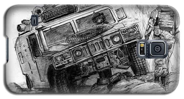 Galaxy S5 Case featuring the drawing Humvee-afghanistan by Jim Hubbard