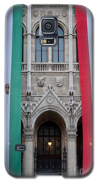 Hungary Flag Hanging At Parliament Budapest Galaxy S5 Case