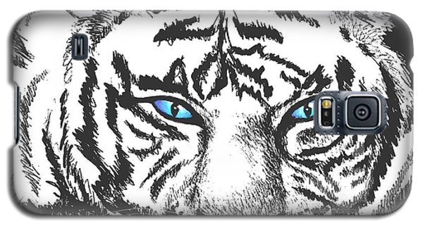Galaxy S5 Case featuring the drawing Hungry Eyes by Sophia Schmierer