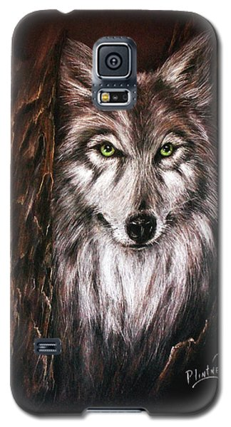 Galaxy S5 Case featuring the drawing Hunter In The Night by Patricia Lintner
