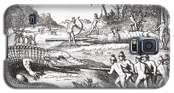 Hunting Alligators In The Southern States Of America Galaxy S5 Case by Theodor de Bry