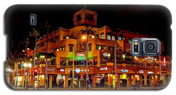 Galaxy S5 Case featuring the photograph Huntington Beach Downtown Nightside 1 by Jim Carrell