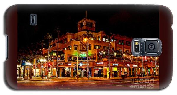 Huntington Beach Downtown Nightside 1 Galaxy S5 Case by Jim Carrell