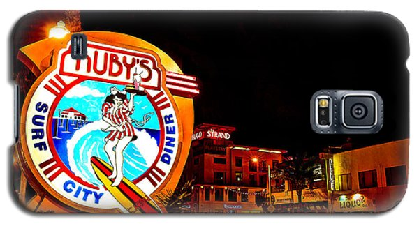 Galaxy S5 Case featuring the photograph Huntington Beach Downtown Nightside 2 by Jim Carrell