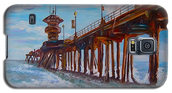 Huntington Beach Pier 2 Galaxy S5 Case
