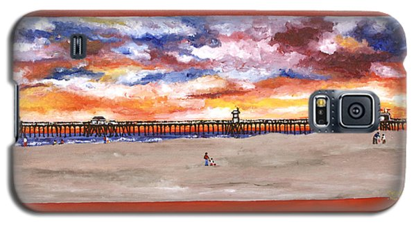 Huntington Beach Pier 3 Galaxy S5 Case