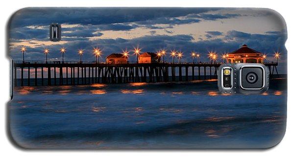 Huntington Beach Pier Lights  Galaxy S5 Case by Duncan Selby