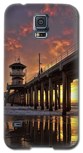 Huntington Beach Pier Galaxy S5 Case by Peggy Hughes