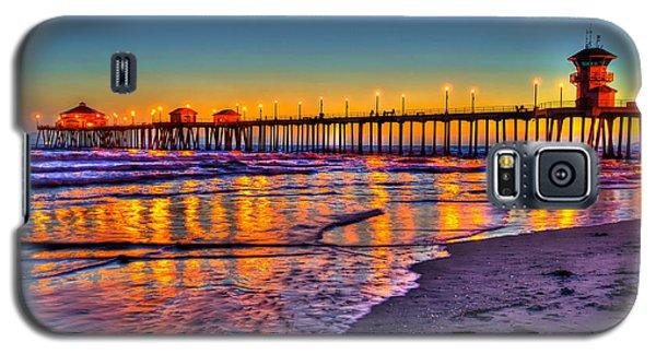 Galaxy S5 Case featuring the photograph Huntington Beach Pier Sundown by Jim Carrell