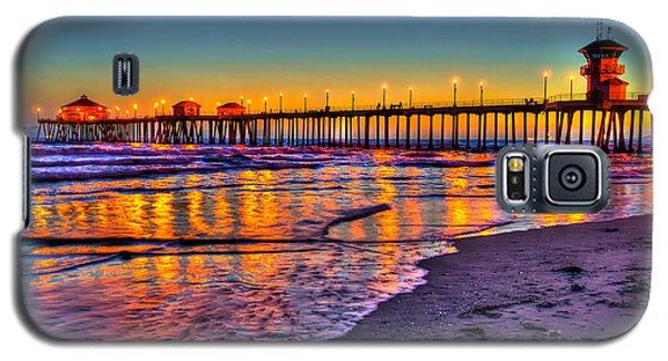 Huntington Beach Pier Sundown Galaxy S5 Case by Jim Carrell