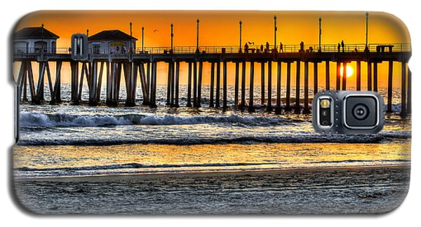 Huntington Beach Sunset Galaxy S5 Case by Jim Carrell
