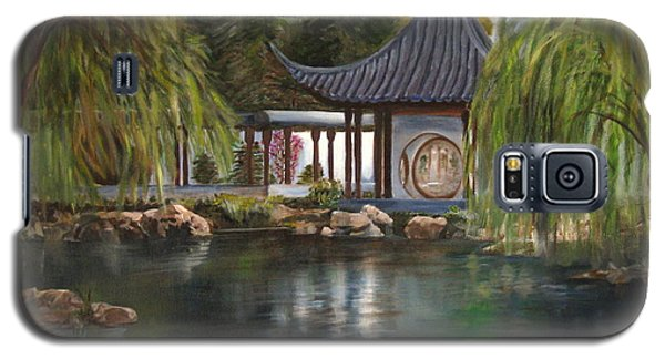 Galaxy S5 Case featuring the painting Huntington Chinese Gardens by LaVonne Hand