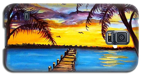 Galaxy S5 Case featuring the painting Hurry Sundown by Ecinja Art Works