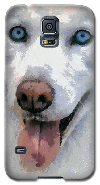 Galaxy S5 Case featuring the painting Husky by Georgi Dimitrov