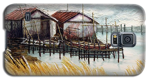 Huts By The Shore Galaxy S5 Case