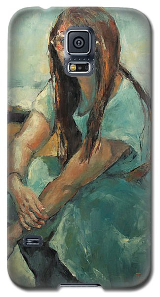 Hwasun In Blue Dress Galaxy S5 Case by Becky Kim
