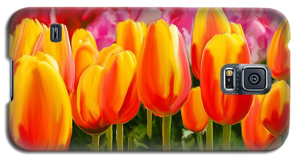 Galaxy S5 Case featuring the painting Hybrid Tulips by Tim Gilliland