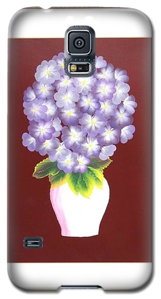 Galaxy S5 Case featuring the painting Hydrangea by Ron Davidson