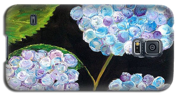 Galaxy S5 Case featuring the painting Hydrangeas  by Reina Resto