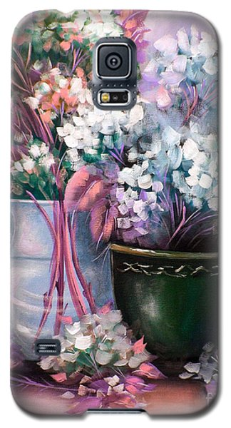 Galaxy S5 Case featuring the painting Hydrangeas Still Life Pink by Patrice Torrillo