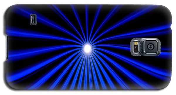 Galaxy S5 Case featuring the painting Hyperspace Blue Landscape by Pet Serrano