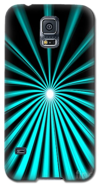 Galaxy S5 Case featuring the painting Hyperspace Cyan Portrait by Pet Serrano