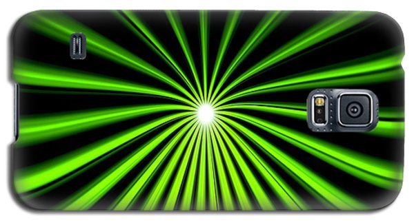 Galaxy S5 Case featuring the painting Hyperspace Electric Green Square by Pet Serrano