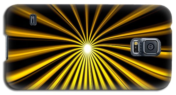 Hyperspace Gold Landscape Galaxy S5 Case