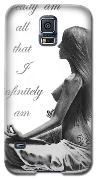 Galaxy S5 Case featuring the drawing I Am by Marianne NANA Betts