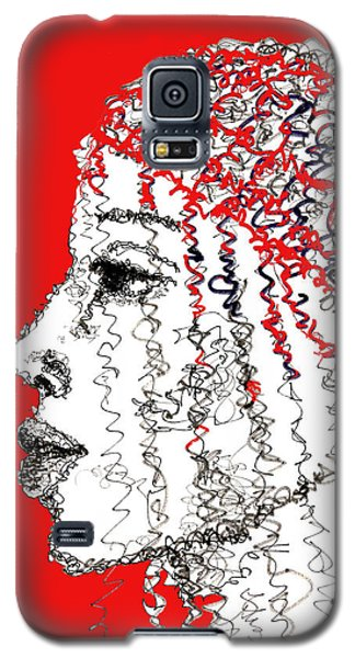 Galaxy S5 Case featuring the drawing I Am Not Afraid by Sladjana Lazarevic