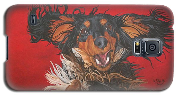 Galaxy S5 Case featuring the painting I Am Sooooooo Happy To See You by Wendy Shoults