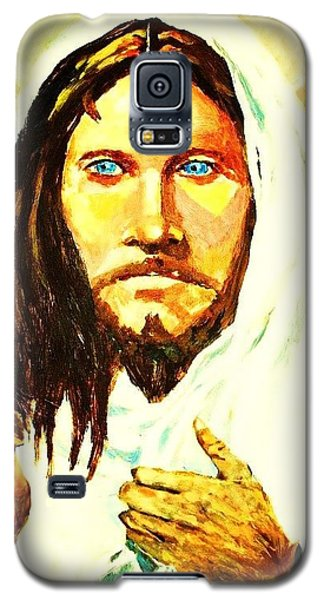 Galaxy S5 Case featuring the painting I Am The Way... by Al Brown
