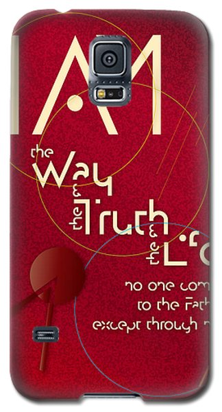 Galaxy S5 Case featuring the digital art I Am The Way by Chuck Mountain