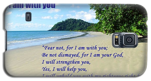 I Am With You Beach Scene Galaxy S5 Case