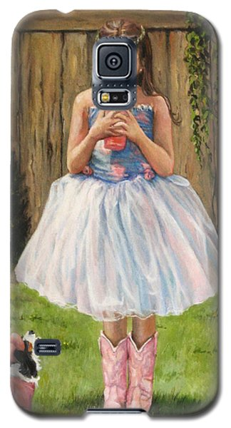 Galaxy S5 Case featuring the painting I Dressed Myself by Donna Tucker