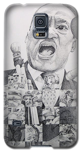 Galaxy S5 Case featuring the drawing I Have A Dream Martin Luther King by Joshua Morton