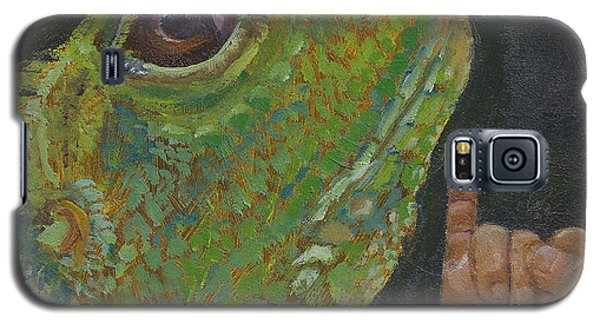 Galaxy S5 Case featuring the painting I Is For Iguana by Jessmyne Stephenson