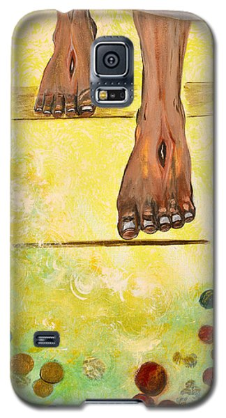 Galaxy S5 Case featuring the painting I Knock by Cassie Sears