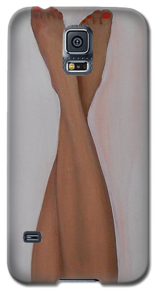 Galaxy S5 Case featuring the painting I Know What You're Thinking by Jane  See