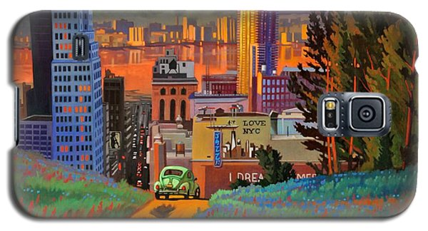 Galaxy S5 Case featuring the painting I Love New York City Jazz by Art James West