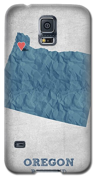 I Love Portland Oregon- Blue Galaxy S5 Case by Aged Pixel