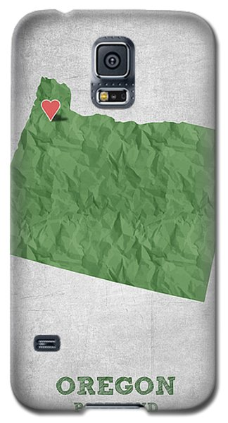 I Love Portland Oregon- Green Galaxy S5 Case by Aged Pixel