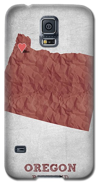 I Love Portland Oregon- Red Galaxy S5 Case by Aged Pixel