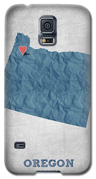 I Love Salem Oregon- Blue Galaxy S5 Case by Aged Pixel