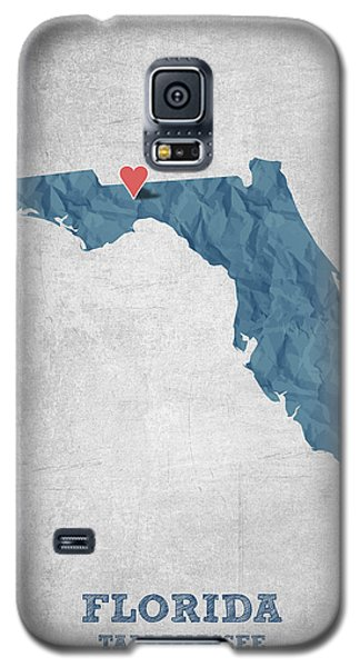 I Love Tallahassee Florida - Blue Galaxy S5 Case by Aged Pixel