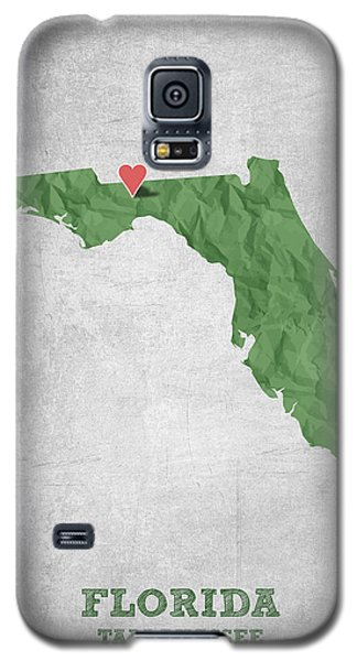 I Love Tallahassee Florida - Green Galaxy S5 Case by Aged Pixel
