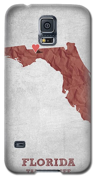 I Love Tallahassee Florida - Red Galaxy S5 Case by Aged Pixel