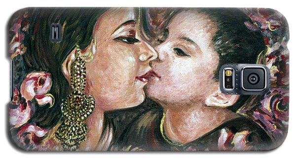 Galaxy S5 Case featuring the painting I Love You Mom by Harsh Malik