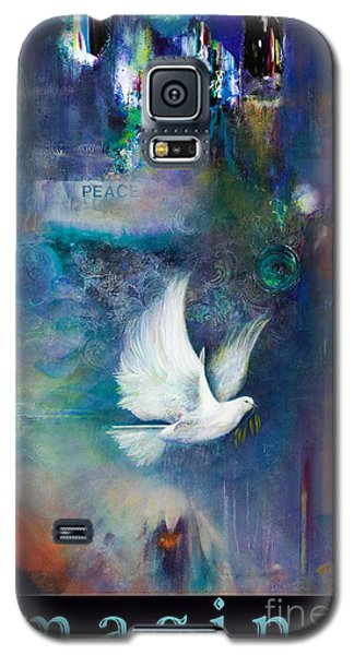 Galaxy S5 Case featuring the painting I M A G I N E by Brooks Garten Hauschild