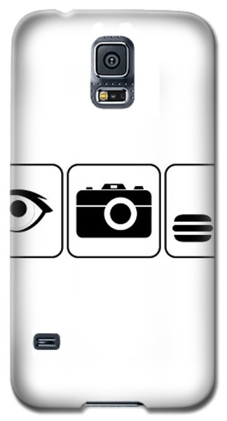 Galaxy S5 Case featuring the digital art I Photograph Food by Brian Carson
